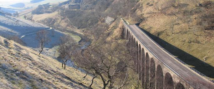 Viaduct at Smardale Gill -