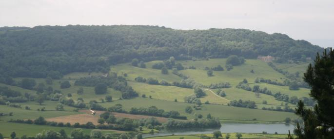 Coopers Hill from Crickley - (c) GWT