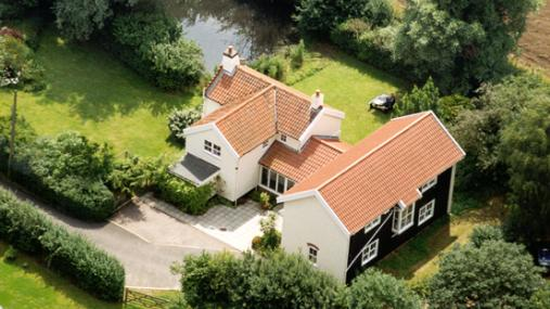 Brooke House aerial view -