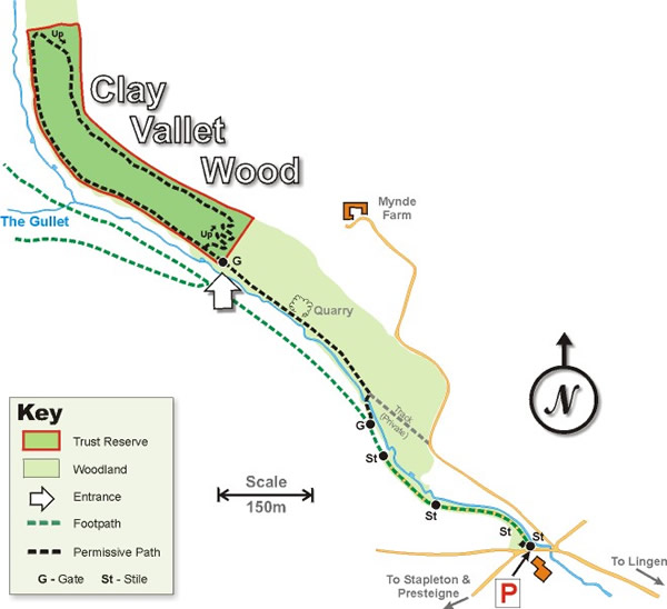 Clay Vallets Wood map
